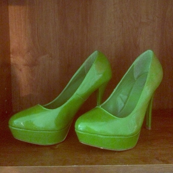 38 qupid shoes lime green qupid platform heels