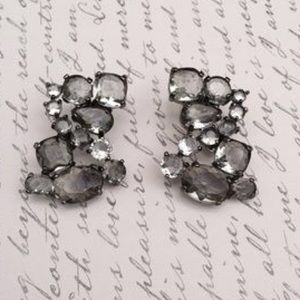 J. Crew light grey Crystal earrings