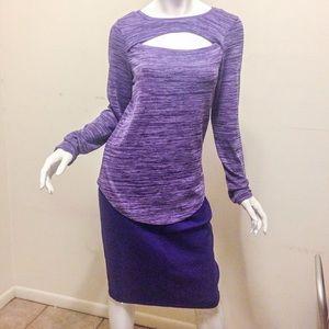 Purple St. John knit skirt ($75)