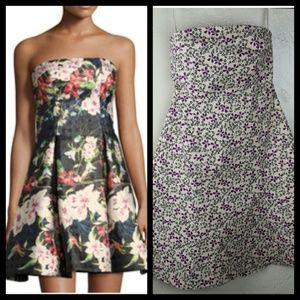 🌺 GAP, NWT Floral Tube Strapless Dress Size 1