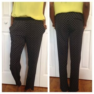 H&M Black Polka Dot Pants