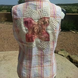 Hand embellished top