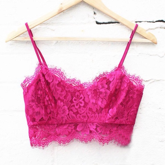 2c3465eac4d41 Hot pink lace bralette NWT. M 55872f66859908111700c135