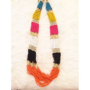 Colorful Bead Statement Necklace