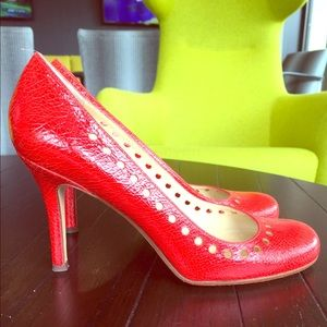 kate spade Shoes - Coral Kate Spade Punchout Pumps