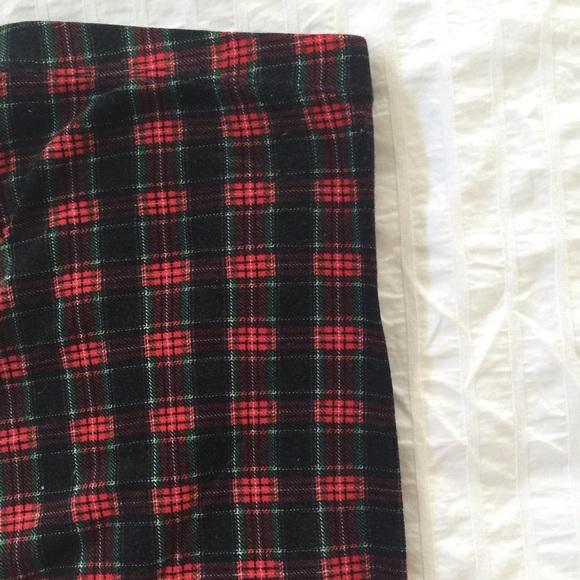 Tres Bien Pants Sold Plaid Tartan Stretch Leggings