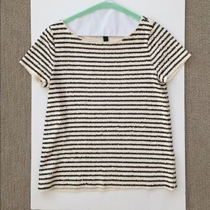 Jcrew sequined striped top