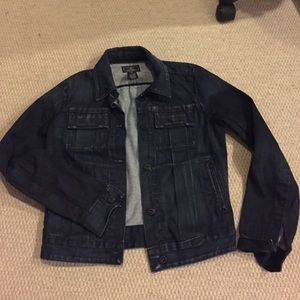 Lucky brand dark denim jacket size  xs