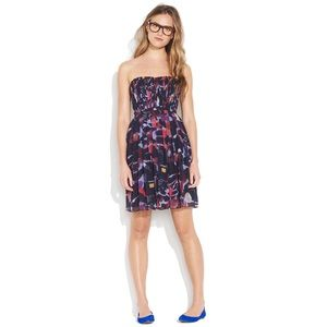 Madewell Strapless Storybook Silk Printed Dress -2