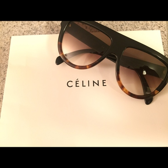 3780038773ed Celine Accessories - Celine CL 41026 S black Havana tortoise sunglasses