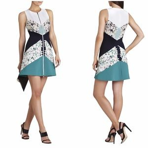 BCBGMaxAzria Dresses & Skirts - Floral Geometric Block Print Sheath Dress