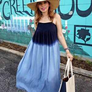 Lulu's Dresses & Skirts - Lulus blue ombre tie dye maxi dress