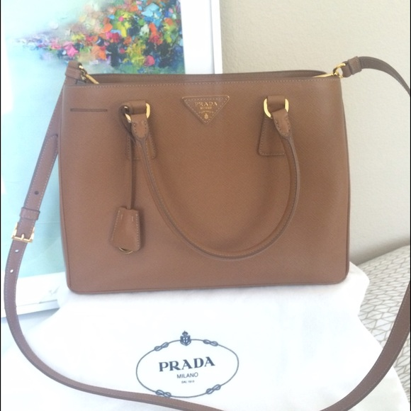 e904650e08d2 36% off Prada Handbags - Prada Saffiano Lux Tote Cameo (Blush) w .