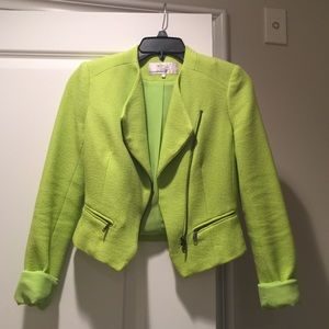 Zara Zara neon green jacket Sz XS from Vicky s closet on #1: s 5587a7f7f