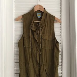 Green utility-style vest