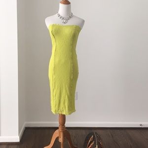 Victoria's Secret lime lace dress