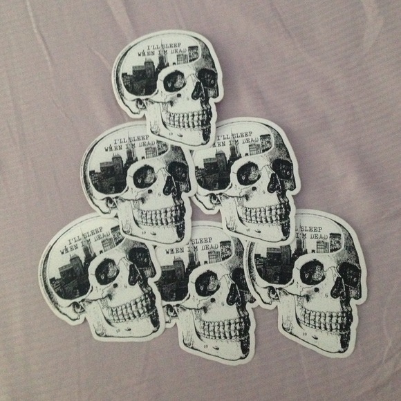 Ill sleep when im dead brandy sticker pack