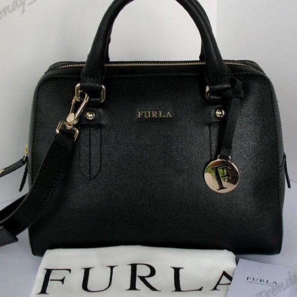 48% off Furla Handbags - NWT Furla Elena Saffiano Leather Small ...