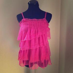Tops - Cutesy Girl Hot Pink Romeo & Juliet Top
