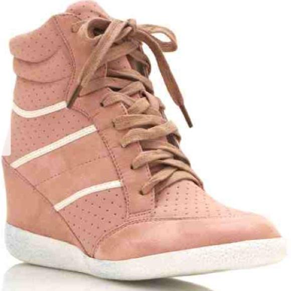 Shoes   Blush Gym Shoe Wedges   Poshmark