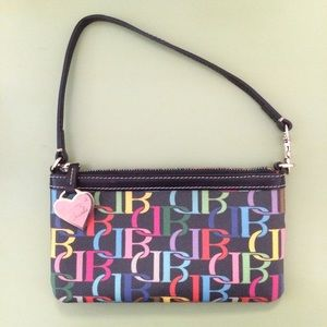 Dooney and Bourke multicolored clutch