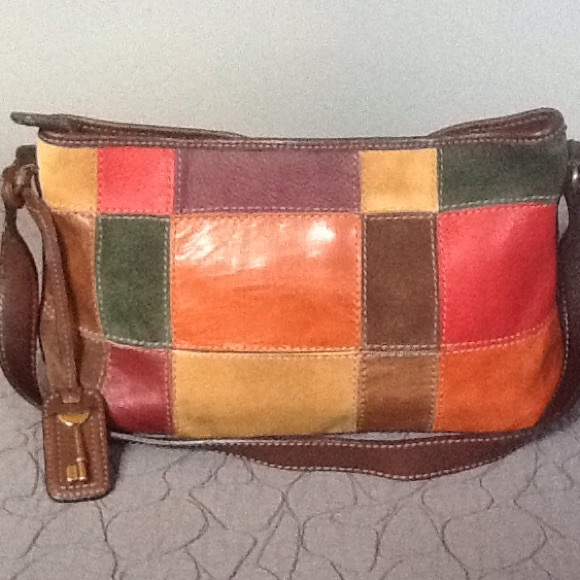 Fossil Handbags - Vintage Fossil Patchwork Leather Bag 4658f018db5f6