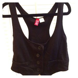 Cute H&M black vest in size 2