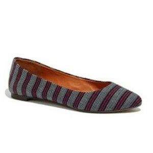 Madewell striped Sidewalk Skimmer, 9.5