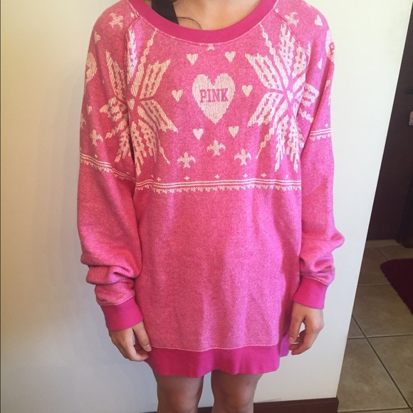 62% off PINK Victoria's Secret Sweaters - Oversized Pink VS Pink ...
