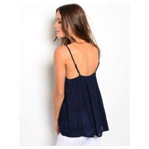 That Glam Girl Boutique Tops - Navy Top