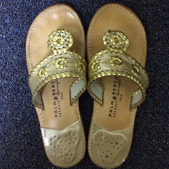 f3e6b077a10886 Palm Beach Sandals Shoes - Palm Beach Classic Sandals - Platinum Gold