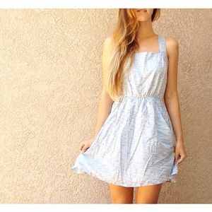 | new | blue and white dress