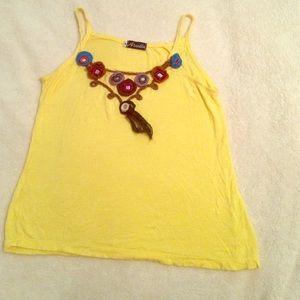 Ariella Tops - Ariella yellow tank top
