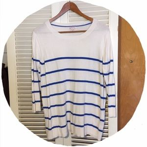 Merona Sweaters - 🎀Blue & White Striped Sweater🎀