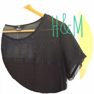 H&M Tops - 🎀Black Lace Tee🎀