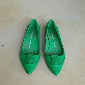 Sigerson Morrison green rubber flats