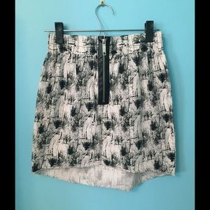 River Island Black and White Skirt