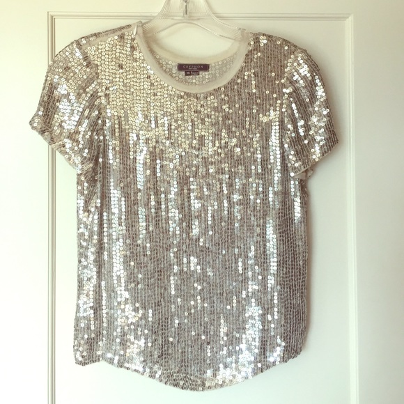 55% off Gryphon Tops - Gryphon silver sequin top from ...