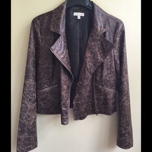 Jackets & Blazers - Brown Leather Jacket