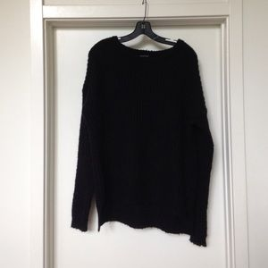 Brave Soul black chunky knit sweater