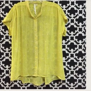 🆕LISTING Yellow Sheer Top