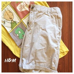 H&M Pants - H&M Chino Shorts - light beige
