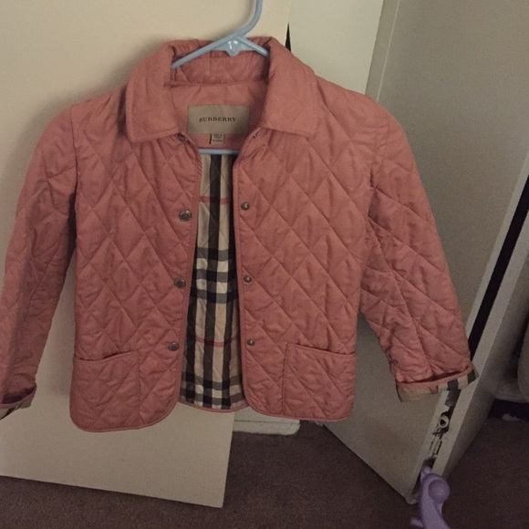 Burberry Jackets Coats Girls Pink Quilted Jacket Size 8 Poshmark