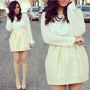 Forever 21 Dresses & Skirts - Gold Bubble Skirt