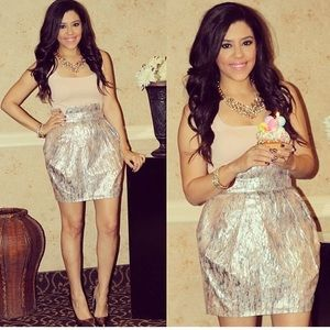 Metallic Bubble Skirt