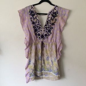 Free people embroidery tunic top