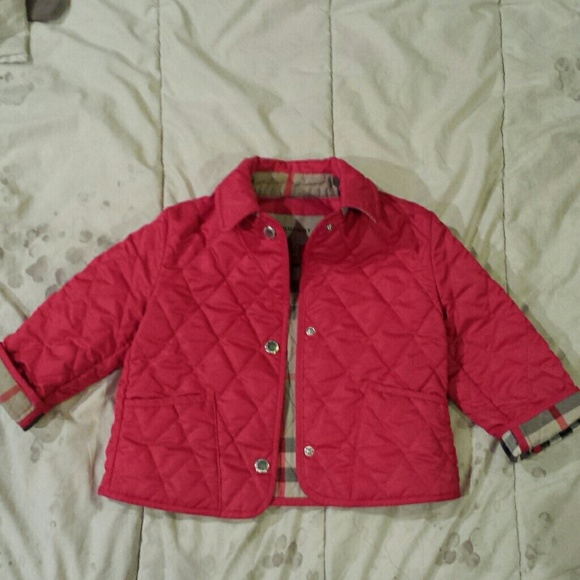 58% off Burberry Other - Authentic Burberry Baby Quilted Jacket ... : baby quilted jacket - Adamdwight.com
