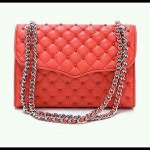 Rebecca Minkoff -studded quilted affair, coral