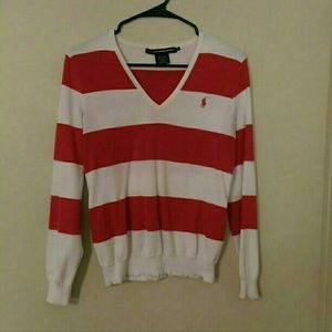 Red and white Ralph Lauren sweater