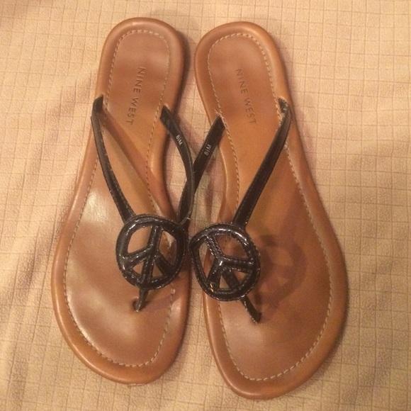 Nine West peace sign sandals. M 5588c7724c53105c00000f58 e0c87357d